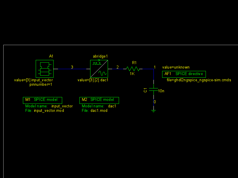 ngspice / Discussion / ngspice tips and examples:VHDL sim'd  vcd